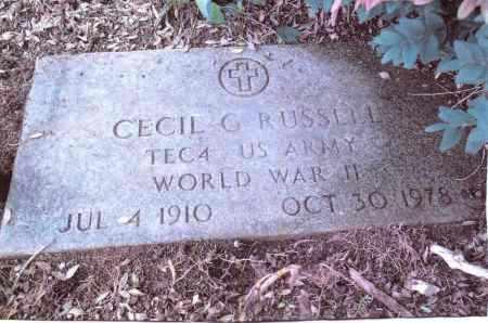 RUSSELL, CECIL G. - Gallia County, Ohio | CECIL G. RUSSELL - Ohio Gravestone Photos
