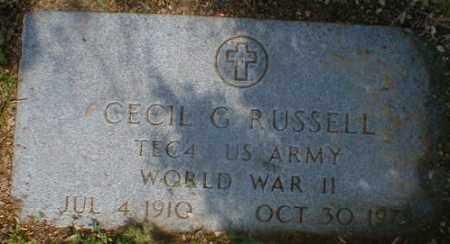 RUSSELL, CECIL - Gallia County, Ohio | CECIL RUSSELL - Ohio Gravestone Photos