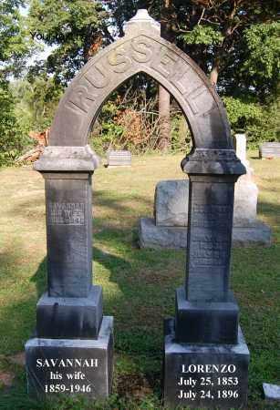 RUSSELL, LORENZO - Gallia County, Ohio | LORENZO RUSSELL - Ohio Gravestone Photos