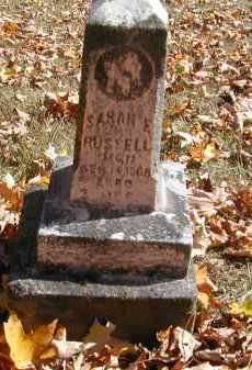 RUSSELL, SARAH - Gallia County, Ohio | SARAH RUSSELL - Ohio Gravestone Photos