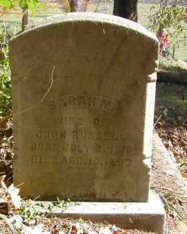 RUSSELL, SARAH - Gallia County, Ohio   SARAH RUSSELL - Ohio Gravestone Photos