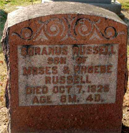 RUSSELL, SORANUS - Gallia County, Ohio | SORANUS RUSSELL - Ohio Gravestone Photos