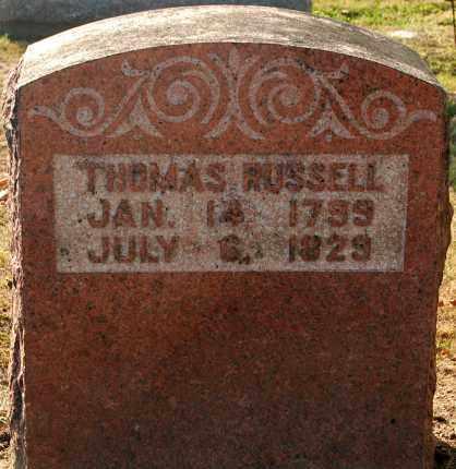 RUSSELL, THOMAS - Gallia County, Ohio | THOMAS RUSSELL - Ohio Gravestone Photos