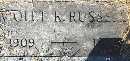 RUSSELL, VIOLET K. - Gallia County, Ohio | VIOLET K. RUSSELL - Ohio Gravestone Photos