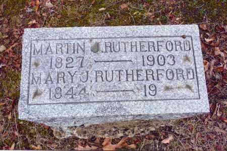 RUTHERFORD, MARTIN J. - Gallia County, Ohio | MARTIN J. RUTHERFORD - Ohio Gravestone Photos