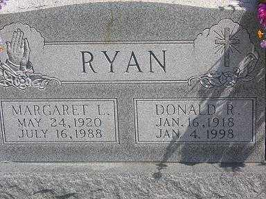 RYAN, MARGARET L. - Gallia County, Ohio | MARGARET L. RYAN - Ohio Gravestone Photos