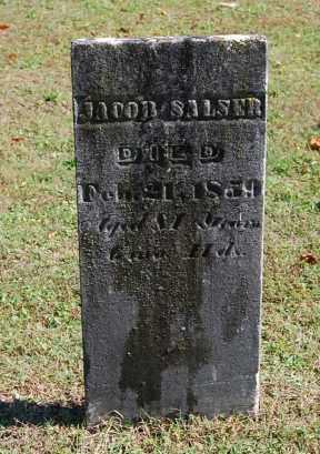 SALSER, JACOB - Gallia County, Ohio | JACOB SALSER - Ohio Gravestone Photos
