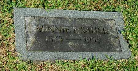 SHANNON SAUER, MINNIE F - Gallia County, Ohio | MINNIE F SHANNON SAUER - Ohio Gravestone Photos
