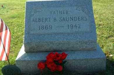 SAUNDERS, ALBERT B. - Gallia County, Ohio | ALBERT B. SAUNDERS - Ohio Gravestone Photos