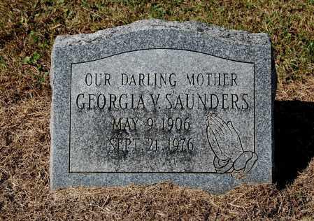 SAUNDERS, GEORGIA V - Gallia County, Ohio   GEORGIA V SAUNDERS - Ohio Gravestone Photos