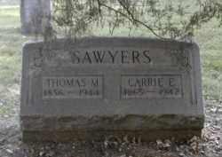 SAWYERS, CARRIE - Gallia County, Ohio | CARRIE SAWYERS - Ohio Gravestone Photos