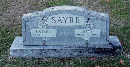 SAYRE, FAYE - Gallia County, Ohio | FAYE SAYRE - Ohio Gravestone Photos