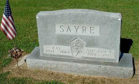 SAYRE, VIRGINIA E - Gallia County, Ohio   VIRGINIA E SAYRE - Ohio Gravestone Photos