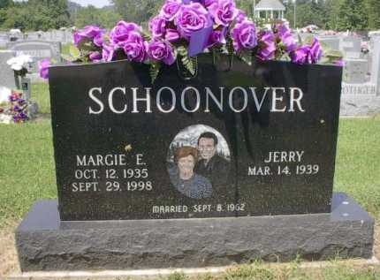 THOMAS SCHOONOVER, MARGIE E. - Gallia County, Ohio | MARGIE E. THOMAS SCHOONOVER - Ohio Gravestone Photos