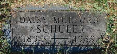 MULFORD SCHULER, DAISY - Gallia County, Ohio   DAISY MULFORD SCHULER - Ohio Gravestone Photos