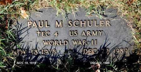 SCHULER, PAUL M - Gallia County, Ohio   PAUL M SCHULER - Ohio Gravestone Photos