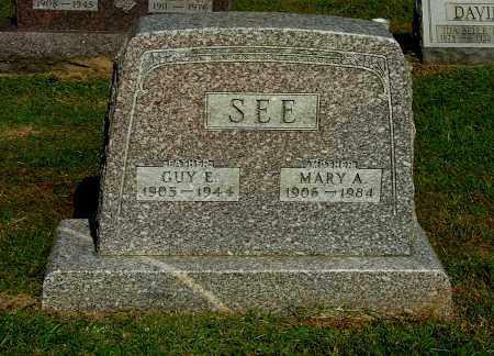 SEE, MARY A - Gallia County, Ohio | MARY A SEE - Ohio Gravestone Photos
