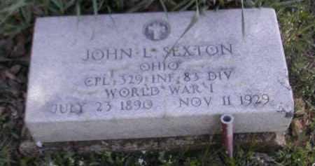 SEXTON, JOHN L. - Gallia County, Ohio   JOHN L. SEXTON - Ohio Gravestone Photos
