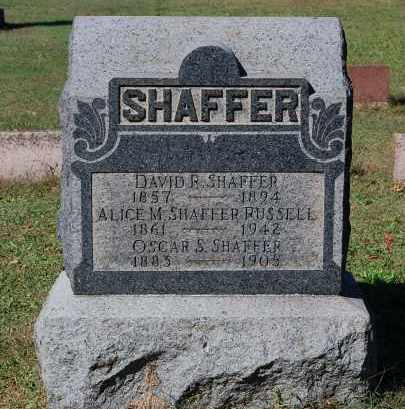 SHAFFER, DAVID R - Gallia County, Ohio | DAVID R SHAFFER - Ohio Gravestone Photos