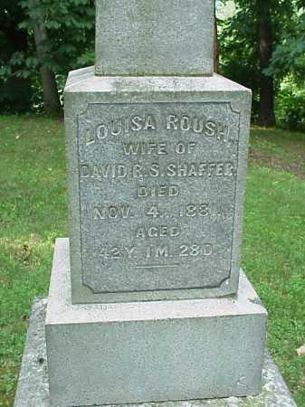 ROUSH SHAFFER, LOUISA - Gallia County, Ohio | LOUISA ROUSH SHAFFER - Ohio Gravestone Photos