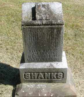 SHANKS, ELLEN - Gallia County, Ohio | ELLEN SHANKS - Ohio Gravestone Photos