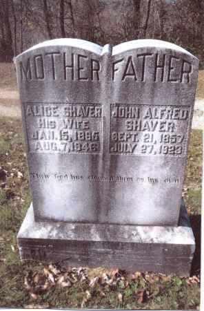 SHAVER, JOHN ALFRED - Gallia County, Ohio | JOHN ALFRED SHAVER - Ohio Gravestone Photos