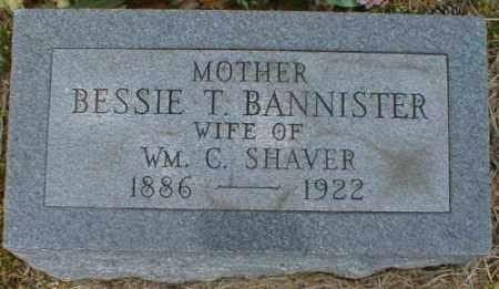 BANNISTER SHAVER, BESSIE - Gallia County, Ohio   BESSIE BANNISTER SHAVER - Ohio Gravestone Photos