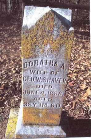 SHAVER, DORATHA A. - Gallia County, Ohio   DORATHA A. SHAVER - Ohio Gravestone Photos