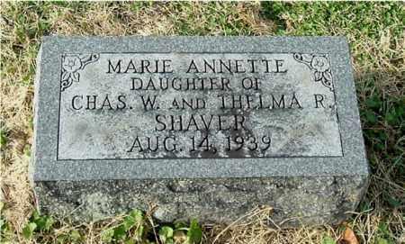 SHAVER, MARIE ANNETTE - Gallia County, Ohio | MARIE ANNETTE SHAVER - Ohio Gravestone Photos