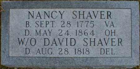 SHAVER, NANCY - Gallia County, Ohio | NANCY SHAVER - Ohio Gravestone Photos