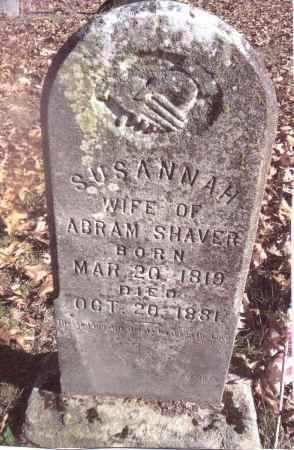 SHAVER, SUSANNAH - Gallia County, Ohio | SUSANNAH SHAVER - Ohio Gravestone Photos