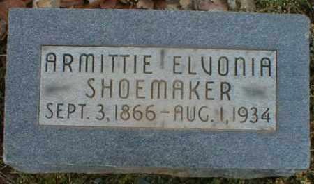 BARRETT SHOEMAKER, ARMITTIE - Gallia County, Ohio   ARMITTIE BARRETT SHOEMAKER - Ohio Gravestone Photos