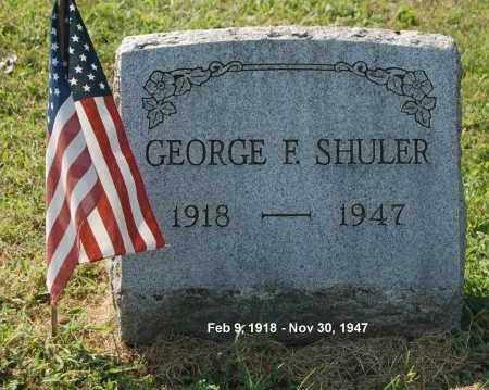 SHULER, GEORGE F - Gallia County, Ohio   GEORGE F SHULER - Ohio Gravestone Photos
