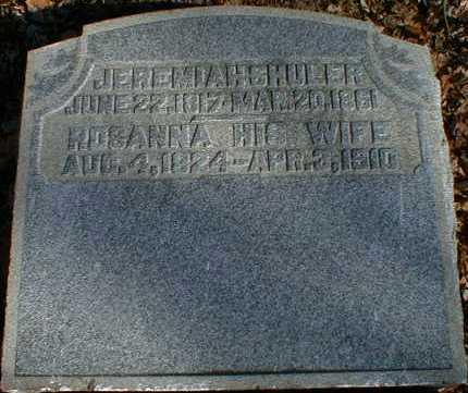 MCCARTY SHULER, ROSANNA - Gallia County, Ohio | ROSANNA MCCARTY SHULER - Ohio Gravestone Photos