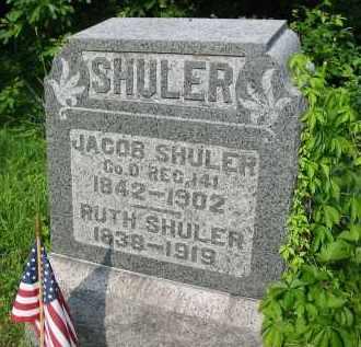 SHULER, JACOB - Gallia County, Ohio   JACOB SHULER - Ohio Gravestone Photos