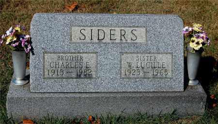 SIDERS, CHARLES E - Gallia County, Ohio | CHARLES E SIDERS - Ohio Gravestone Photos