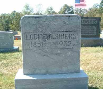 SIDERS, LODICE C - Gallia County, Ohio   LODICE C SIDERS - Ohio Gravestone Photos