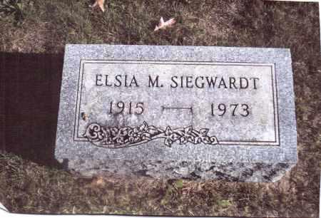 SIEGWARDT, ELSIA M. - Gallia County, Ohio | ELSIA M. SIEGWARDT - Ohio Gravestone Photos