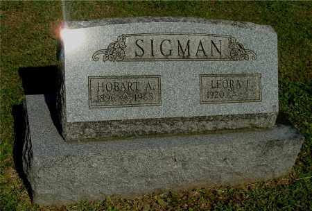 SIGMAN, HOBART A - Gallia County, Ohio | HOBART A SIGMAN - Ohio Gravestone Photos
