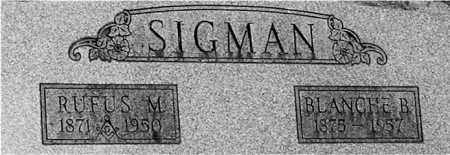 SIGMAN, BLANCHE B (CLOSE-UP) - Gallia County, Ohio | BLANCHE B (CLOSE-UP) SIGMAN - Ohio Gravestone Photos