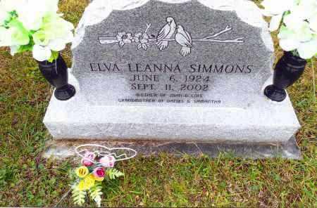 SIMMONS, ELVA LEANNA - Gallia County, Ohio | ELVA LEANNA SIMMONS - Ohio Gravestone Photos