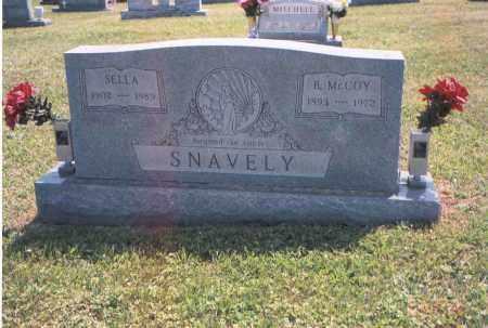 SNAVELY, B. MCCOY - Gallia County, Ohio | B. MCCOY SNAVELY - Ohio Gravestone Photos