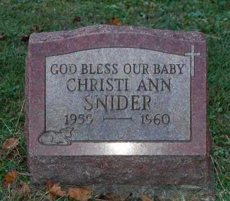 SNIDER, CHRISTI ANN - Gallia County, Ohio | CHRISTI ANN SNIDER - Ohio Gravestone Photos