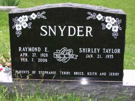 SNYDER  (FRONT OF STONE), RAYMOND E. - Gallia County, Ohio   RAYMOND E. SNYDER  (FRONT OF STONE) - Ohio Gravestone Photos