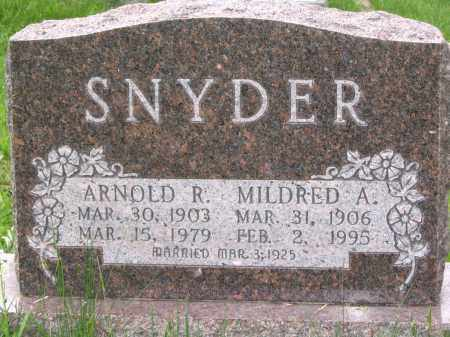 SNYDER, MILDRED A. - Gallia County, Ohio | MILDRED A. SNYDER - Ohio Gravestone Photos