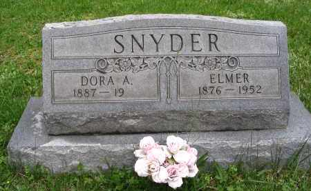 SNYDER, DORA A. - Gallia County, Ohio | DORA A. SNYDER - Ohio Gravestone Photos
