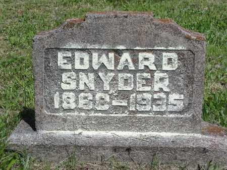 SNYDER, EDWARD - Gallia County, Ohio | EDWARD SNYDER - Ohio Gravestone Photos