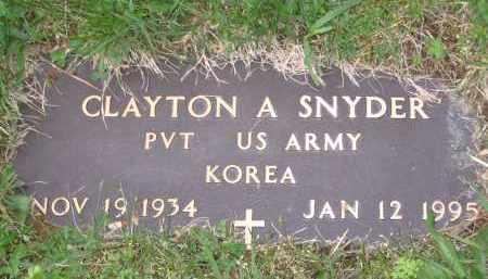 SNYDER (FOOTSTONE), CLAYTON A. - Gallia County, Ohio | CLAYTON A. SNYDER (FOOTSTONE) - Ohio Gravestone Photos