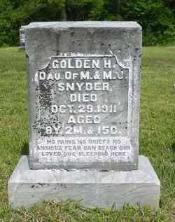 SNYDER, GOLDEN H. - Gallia County, Ohio   GOLDEN H. SNYDER - Ohio Gravestone Photos