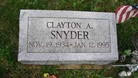 SNYDER (HEADSTONE), CLAYTON A. - Gallia County, Ohio   CLAYTON A. SNYDER (HEADSTONE) - Ohio Gravestone Photos